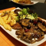 Oyster Mushroom Cutlets With Mushroom-Cranberry Sauce