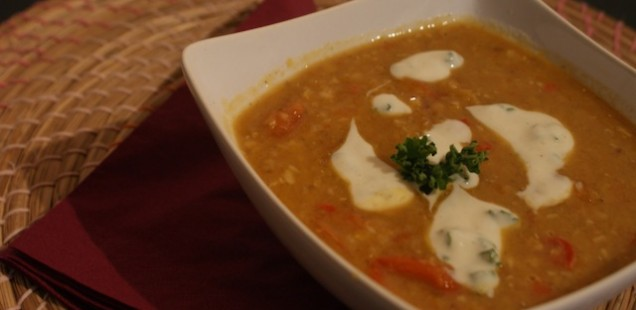 Red Lentil Dal With Yoghurt