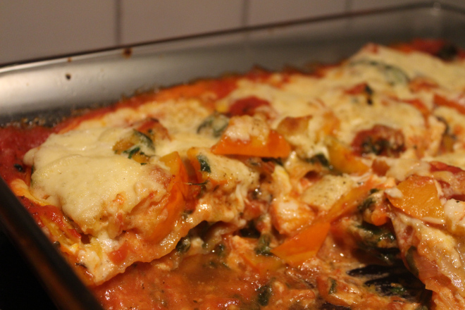 Pumpkin and Spinach Lasagna